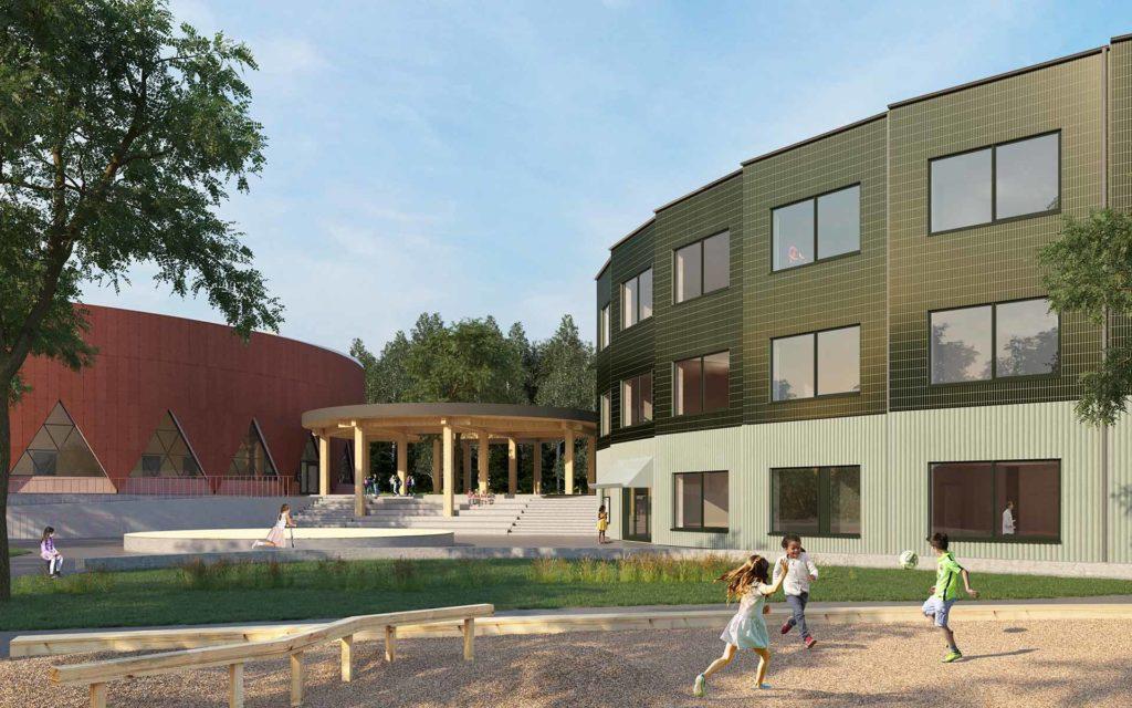 Fågelsångens Grundskola och Idrottshall